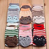 Короткие носочки женские разноцветные