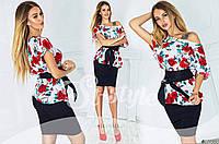 Хлопковая женская блузка цветочного принта