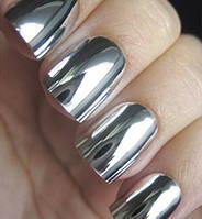 Зеркальная пудра для ногтей (серебро) 2 гр.