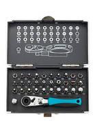 """Набор бит, 1/4"""", магнитный адаптер, сталь S2 пластиковый кейс, 33 предмета GROSS (11365)"""