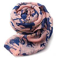 Шарф женщин зима теплая животное милый слон печать париж пряжа обруча шали пашмины