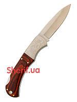 Нож складной с деревянной ручкой и орнаментом  Max Fuchs 44803