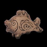 Глиняный свисток Рыба IC04 Покутская керамика