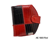 Женское модное портмоне на кнопке AE1869 red