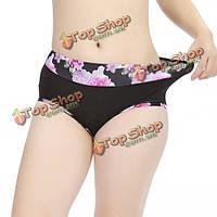 Женщины эластичные мягкие удобные дышащие модальные цветочные печатные талии трусы трусики нижнее белье
