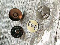 Магнитные Кнопки 17 мм серебро