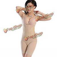 Женское корректирующее белье боди с застежкой-молнией