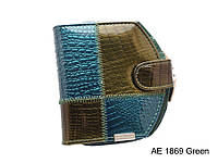 Женское модное портмоне на кнопке AE1869 green