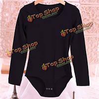 Женщины тепло футболка термический длинный рукав стрейч высокой шеи комбинезон формирователь