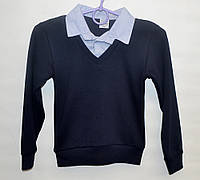Рубашка-обманка для школы мальчику 6-12 лет ATABAY джемпер голубая