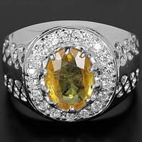 """Яркое кольцо """"Солнечное"""" с желтым  сапфиром , размер 17,5 студия LadyStyle.Biz"""