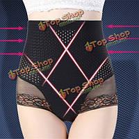 Высокая талия тонкие дышащие кружева близкие управления Формирование штаны