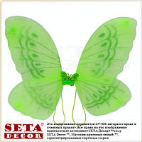 "Крылья ""Бабочка"" зеленые, карнавальные"