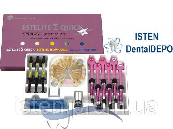Эстелайт Сигма Квик НАБОР 9 шпр. + БоднФорс 5 мл. | Estelite Sigma Quick.System Kit