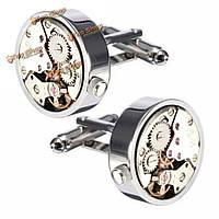 Мужчины мужчины серебряные механические часы модели запонок свадебный подарок костюм рубашки аксессуары