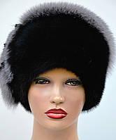 Шапка норковая женская Норка песец,рюшка, фото 1