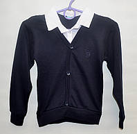 Рубашка-обманка для школы мальчику 6-12 лет ATABAY SCHOOL белая