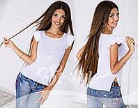 Летняя шифоновая женская блузка белая
