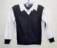 Рубашка-обманка для школы мальчику 6-12 лет ATABAY SCHOOL