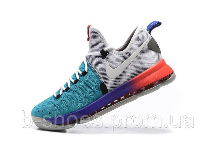 Мужские баскетбольные кроссовки Nike KD 9  (Blue/Red/Grey)