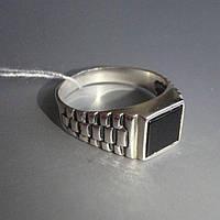 Серебряный мужской перстень с ониксом, 4,5 грамма