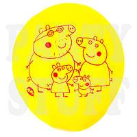 """Шарики Ассорти пастель Свинка Пеппа и семья 12""""(30 см), 100 шт"""