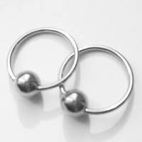 Кольцо сегметное для пирсинга, диаметр 14 мм, толщина 1.2 мм. Медицинская сталь.