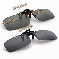 Ночного видения очки поляризованных вождения рыбалка клип на солнцезащитные очки для металлической раме