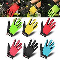 Qepae сетки хлопка езда перчатки Спорт на открытом воздухе солнцезащитный крем дышащий велосипед езда на велосипеде полные рукавицы