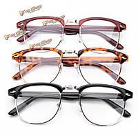 Унисекс мужчины женщины Полурамка очки прозрачные линзы простые очки зрение очки