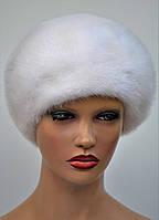 """Женская шапка норковая """"Берет-украшение"""", фото 1"""