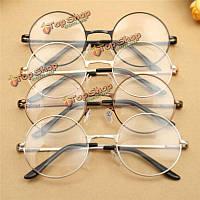 Унисекса поликарбоната круглый овал металлический обод скольжения очки старинные очки для мужчин женщин