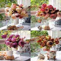 Искусственный пион букет искусственных шелковые цветы домой свадьбы декор