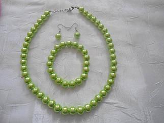 Набір: намисто з браслетом і сережками різнокольорові Б5