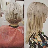 Капсульное наращивание славянских волос.Выравнивание цвета