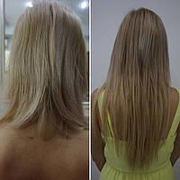 Коррекция микрокапсульного наращивания славянских волос на капсулах