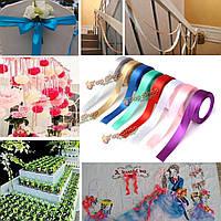 25мм 25yards катушка партия Grosgrain ленты свадьбы подарок на день рождения коробка конфеты украшения
