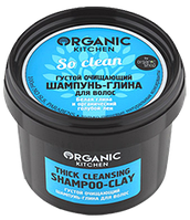 """Organic shop"" Organic Kitchen Шампунь-глина д/волос густой очищающий""So clean"" 100мл"