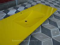 """Столешница в ванную """" Камелия"""" желтая"""