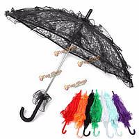 Невеста ручной цветочниц Battenburg кружевной зонтик свадебная вечеринка зонтик