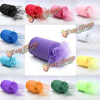 Ткани тюль ролл катушки для изделий на свадьбу Ширина вечеринка галстук-декор 6