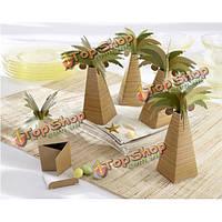 Искусственное дерево кокосовая бумаги конфеты коробки подарка венчания аксессуары