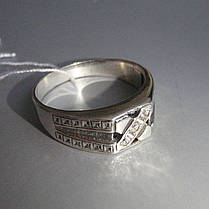 Серебряная мужская печатка с фианитом, 5 грамм, фото 2