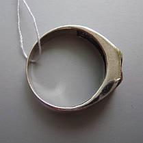 Серебряная мужская печатка с фианитом, 5 грамм, фото 3
