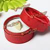 Блестящие многоцветные круглые кольца серьги свадебный подарок шкатулку