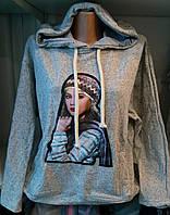 Батник с капюшоном демисезонный коттоновый женский , фото 1