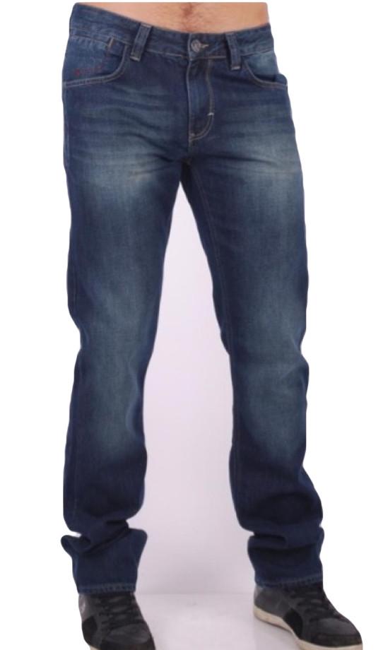 Джинсы Franco Benussi 15-390 прямые темно синие
