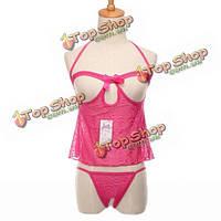 Сексуальные женщины открытый бюстгальтер промежность костюмы прозрачные нижнее белье