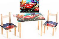 Набор мебели детский стол и 2 стульчика Тачки 062, Финекс