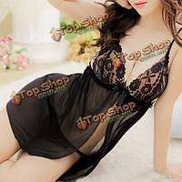 Сексуальный горячий шнурок ремешок лук Babydoll г Строка пижамы, фото 1